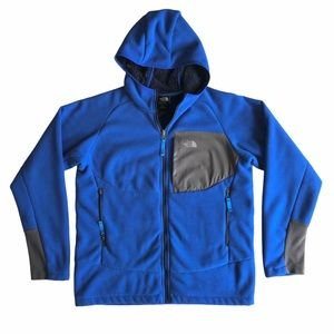 The North Face Boys Blue Fleece Fur Lined Hoody XL